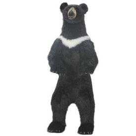 アニマルビッグフィギュアHANSAぬいぐるみ【立つ クロクマ(高さ:158cm)】(等身大フィギュア) )