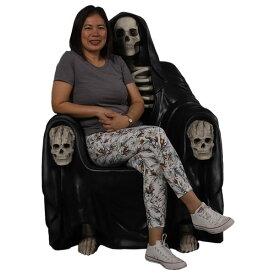 死神の椅子(イス)ベンチ ブラック 等身大フィギュア