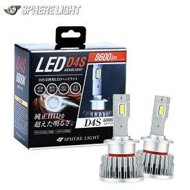 LEDバルブ ヘッドライト D4S 6000K 8600lm 純正HID用 LEDヘッドライト SPHERE-LIGHT(スフィアライト) SLGD4S060