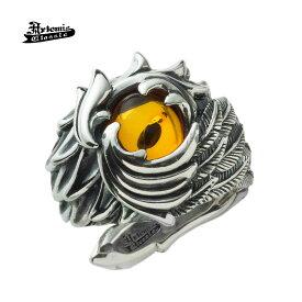 アルテミスクラシック Artemis Classic フェニックスワイドリング ブランド シルバーアクセサリー シルバーリング 指輪 翼 ウィング アンバー オシャレ かっこいい メンズ プレゼント ギフト 天然石 パワーストーン 誕生日 記念日 お祝い