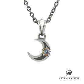 アルテミスキングス Artemis Kings ミスティックムーンチャーム ブランド シルバーアクセサリー ネックレス ペンダント ミスティッククォーツ 天然石 月 三日月 一粒 オシャレ 重ね付け かわいい レディース プレゼント ギフト 誕生日 記念日