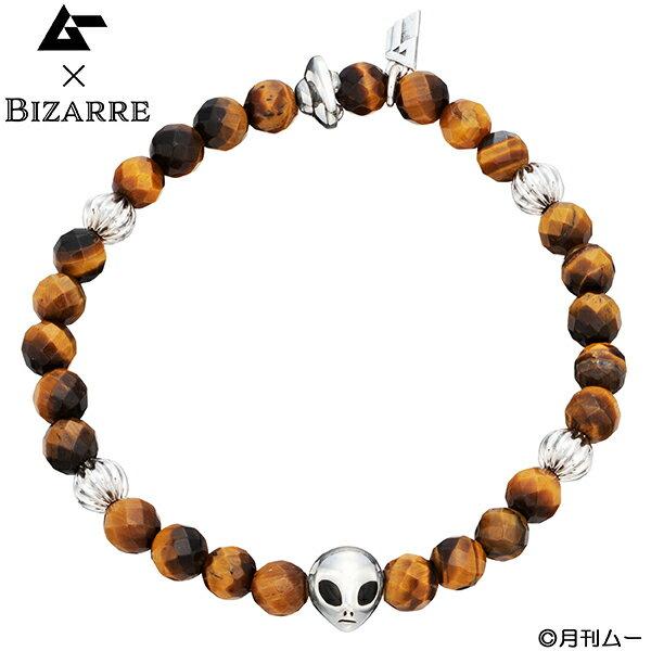 メーカー取り寄せ品ムー×BIZARRE グレイ&UFOストーンブレスレット タイガーアイ/Bizarre/ビザール