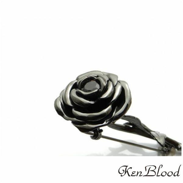 新作/KP-454 ブローチ/シルバーブローチ/ブラック/Ken Blood/ケンブラッド