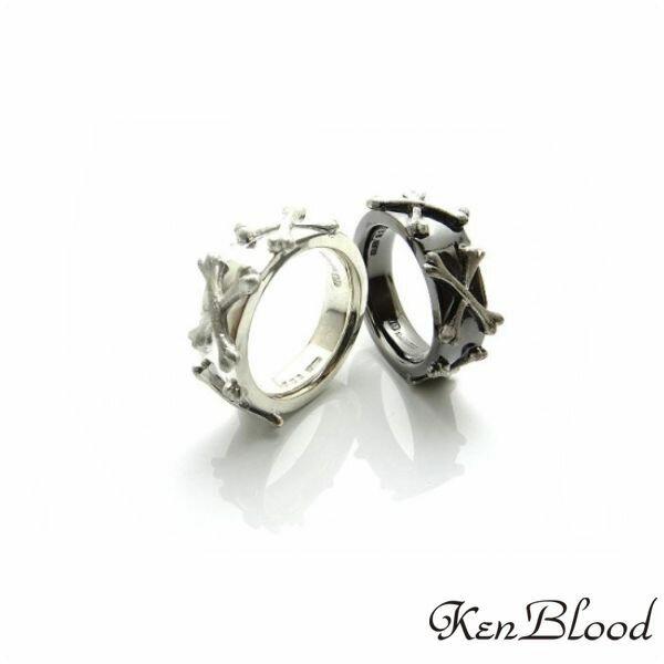 新作/KR-273 リング/シルバー/ブラック/Ken Blood/ケンブラッド
