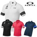 【オークリー】メンズ ゴルフ バークコレクション シャツ433957JP OAKLY Bark Mesh Block Polo【全国一律送料無料】