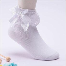 レディース 女の子 キッズ 子供 靴下 くつ下 ソックス リボン レース フリル ホワイト ピンク ネイビー ブラック 発表会 結婚式 ドレスti-0008