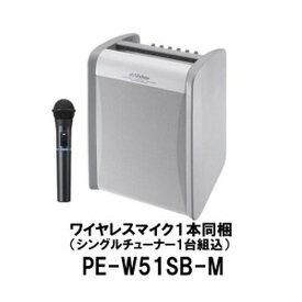 送料無料(一部地域除く)PE-W51SB-M ポータブルワイヤレスアンプ JVC KENWOOD ビクター/ケンウッド 800MHz帯ワイヤレス対応 ハンド型ワイヤレスマイク1本同梱