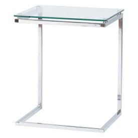 サイドテーブル ローテーブル リビングテーブル ガラス製 モダン 45cm幅 幅45cm ホワイト 白 ソファーテーブル ベッドテーブル コーナーテーブル ソファーサイドテーブル ベッドサイドテーブル コーヒーテーブル