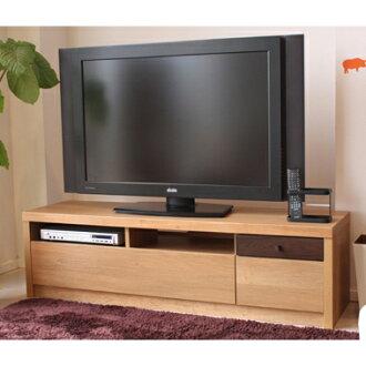 支持电视机柜电视板低板成品木制日式摩登150cm宽度宽150cm低型电视板TV板terebi的台阶TV的台阶客厅板AV收藏电视框天然棕色52英寸对应52型的国货日本制造