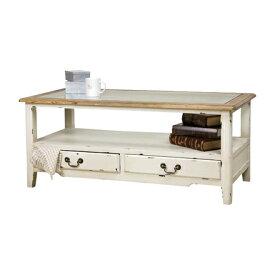 センターテーブル ローテーブル リビングテーブル コーヒーテーブル てーぶる 幅110cm 木製 アンティーク風