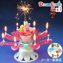 ドリームキャンドル DX 1個 デラックス 誕生日 サプライズ プレゼント バースデー キャンドル 回る 花火 メロディ 子…