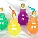 フラッシュ 電球ボトル 500ml キラキラ光る電球 パーティーグッズ インテリア 装飾 光る LED【発売中】