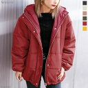ジャケット 撥水加工 フード付き エコダウン ロング 冬 ボリューム 体系カバー 暖かい 可愛い ブラック ベージュ ピン…