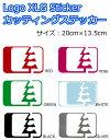NORTH WEST RIDERS(ノースウエストライダース) カッティングステッカー LOGO XLG Sticker ロゴステッカー 20cm×13.5cm