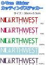 NORTH WEST RIDERS(ノースウエストライダース) カッティングステッカー O-Tree Sticker ロゴステッカー 30cm×5.5cm メー...