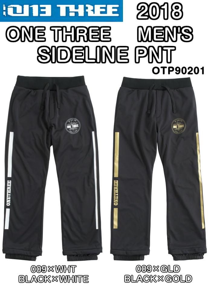 ONE THREE ワンスリー MEN'S SIDELINE PNT OTP90201 サイドライン パンツ スノー パンツ メンズ スノーボードウェア 2018モデル 正規品