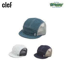 clef クレ ソフトバイザー メッシュ キャップ BUTTER BALL CAP RB3601 吸収速乾素材 COOL EVER 汗止め ツバ部分ワイヤー内蔵 アウトドア マラソン ロゴ 正規品
