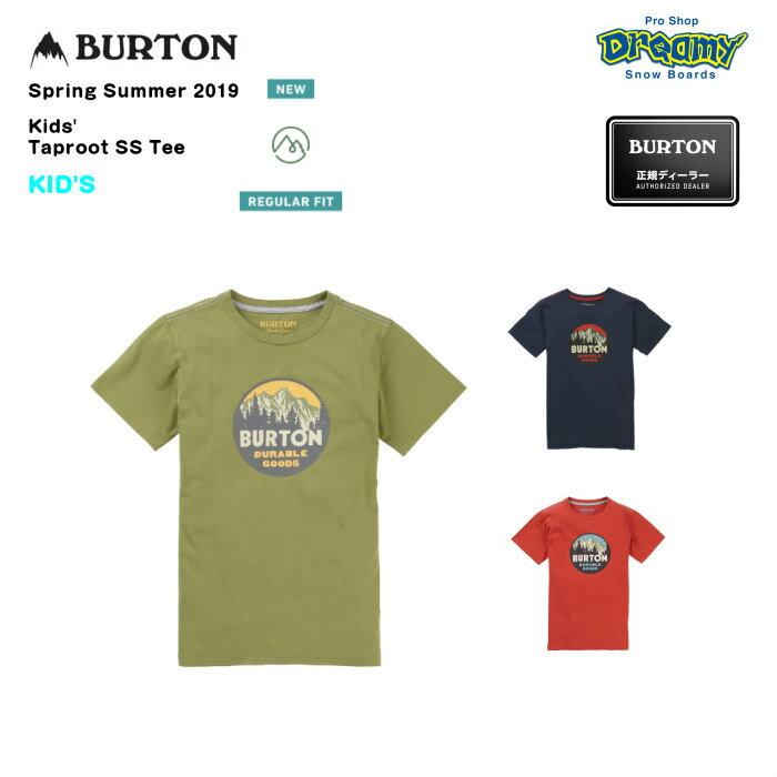 BURTON Kids' Taproot SS Tee キッズ レギュラーフィット ライトウェイトジャージ 防縮加工 ソフトタッチスクリーンプリント Spring Summer 2019モデル 正規品