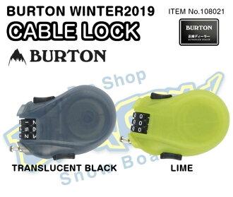 The BURTON Burton CABLE LOCK cable lock 108021 steel cable head: 76cm three columns combination lock WINTER 2019 model regular article