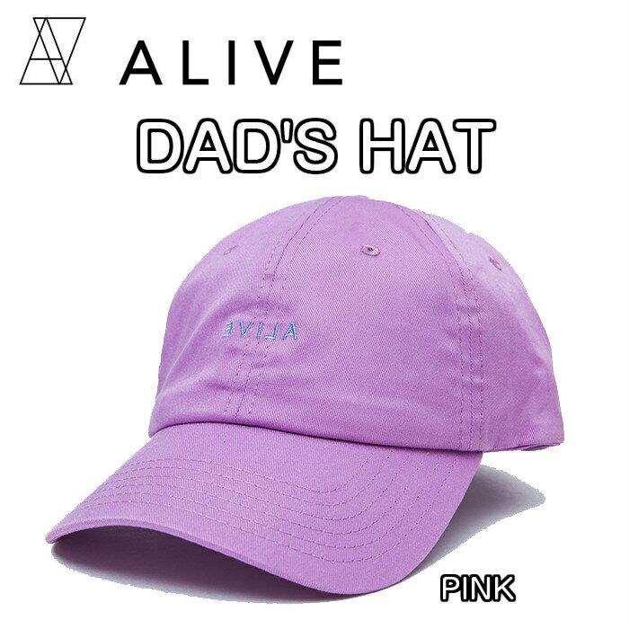 ALIVE アライブ DAD'S HAT ALIAN ダッズハット PINK ピンク CAP 帽子 キャップ ハット 正規品