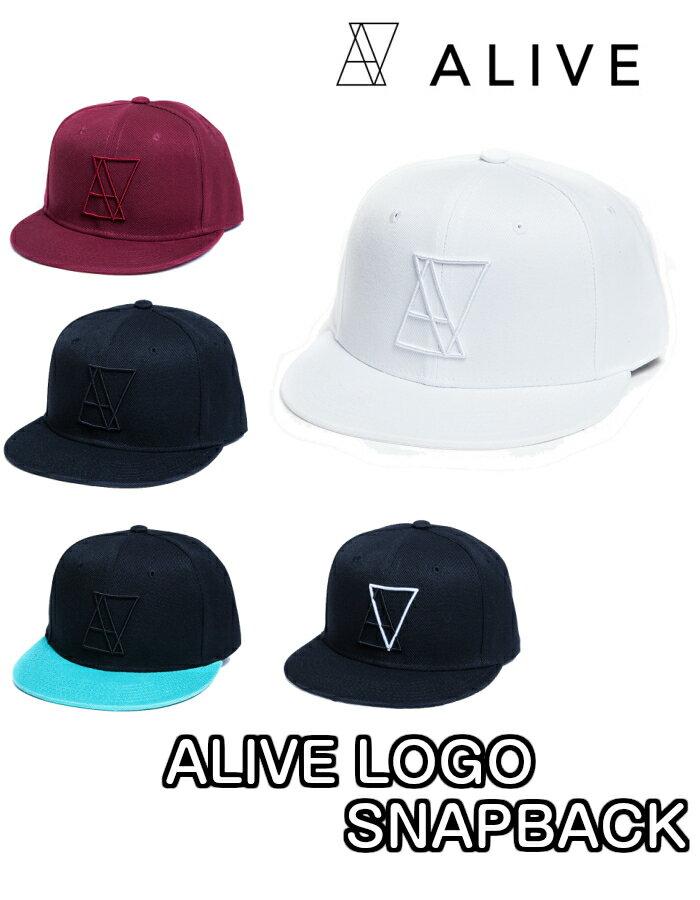 ALIVE(アライブ) ALIVE LOGO SNAPBACK アライブロゴスナップバック CAP 帽子 キャップ 湯川正人 テラスハウス ALL BLACK WHITE MINT TRIANGLE MAROON