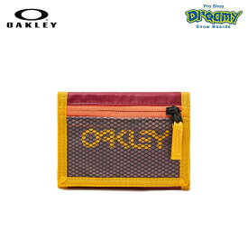 OAKLEY オークリー 90'S Wallet 95154-4ST Sundried Tomato ウォレット カード入れ 小銭入れ YKKジップポケット ベルクロクロージャー ロゴ 財布 正規品