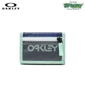 OAKLEY オークリー 90'S Wallet 95154-609 Dark Blue ウォレット カード入れ 小銭入れ YKKジップポケット ベルクロクロージャー ロゴ 財布 正規品