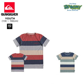 QUIKSILVER UNSUNG HEROS SS YOUTH キッズ マルチボーダー Tシャツ 130-160cm モダン フィット ロゴ EQBKT03211 2019 Springモデル 正規品