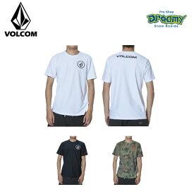 VOLCOM ボルコム メンズ ラッシュガード Apac Circle S/S RG 50+UVカット ラッシュTシャツ 半袖 ロゴ N01119G0 WHT BLK CAM 2019 SPRING モデル 正規品