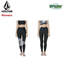 VOLCOM ボルコム レディース ラッシュパンツ Vol Rash Leggings レギンス フルレングス UV50+ ストーン ロゴ プリント O60119JA 2019 SPRING モデル 正規品