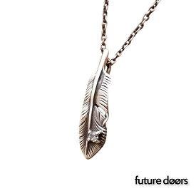 【フューチャードアズ】 fdp-012 フェザーペンダント ダイヤモンド ターコイズ ネックレス メンズ レディース silver925 シルバー925 シルバーアクセ シルバーアクセサリー 記念日 ペア 贈り物
