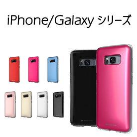Galaxy S8+ ケース iPhone8 iPhone7 カバー GalaxyS8 カードポケット カード収納 TPU iPhone8 Plus iPhone7 Plus Mercury THE HIDDEN CARD スマホケース 耐衝撃