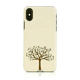 iPhone XS Max ケース 天然木 Man&Wood Apple tree(マンアンドウッド アップルツリー)アイフォン カバー 木製 お取り寄せ