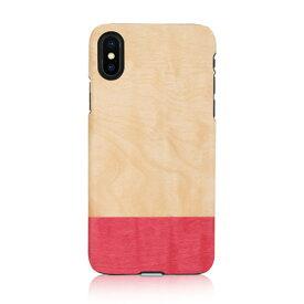 iPhone XS Max ケース 天然木 Man&Wood Miss match(マンアンドウッド ミスマッチ)アイフォン カバー 木製 お取り寄せ
