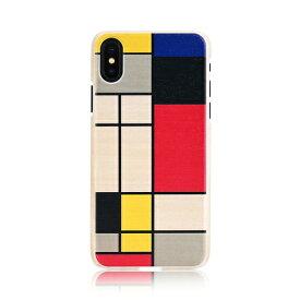 iPhone XS Max ケース 天然木 Man&Wood Mondrian Wood(マンアンドウッド モンドリアンウッド)アイフォン カバー 木製 お取り寄せ