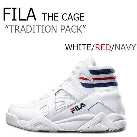 フィラ スニーカー FILA メンズ レディース THE CAGE ザ ケージ WHITE ホワイト RED レッド NAVY ネイビー F1XKZ5954 FS1HTA1021X FS1HTB1121 シューズ