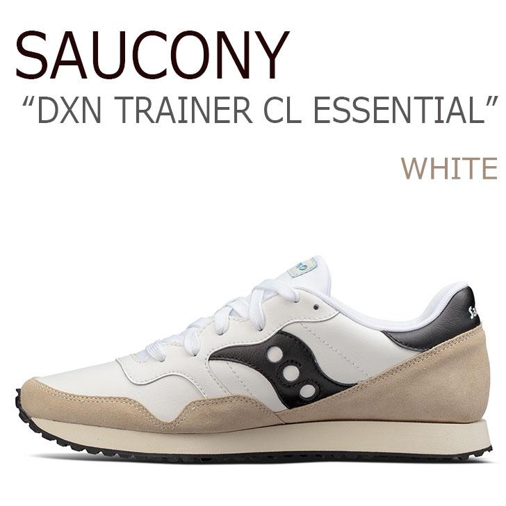 送料無料 サッカニー スニーカー Saucony メンズ DXN TRAINER CL ESSENTIAL ディクソントレーナー WHITE ホワイト S70358-4 シューズ
