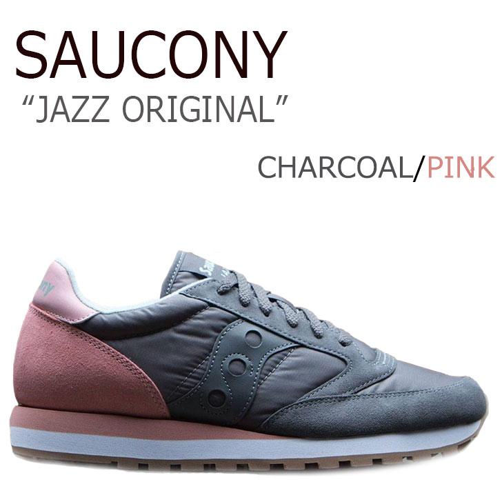 送料無料 サッカニー スニーカー Saucony レディース JAZZ ORIGINAL ジャズ オリジナル CHARCOAL チャコール S1044-404 シューズ