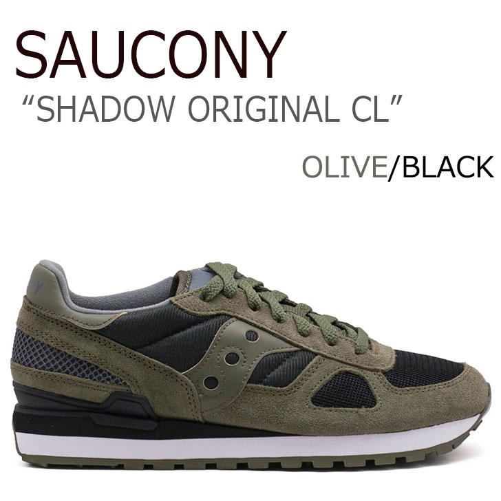 送料無料 サッカニー スニーカー Saucony メンズ SHADOW ORIGINAL CL シャドウオリジナルCL OLIVE オリーヴ BLACK ブラック S2108-655 シューズ