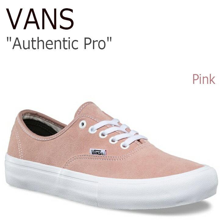 バンズ オーセンティック プロ スニーカー VANS レディース Authentic Pro Pink ピンク Suede スエード VN0A3479QN9 シューズ
