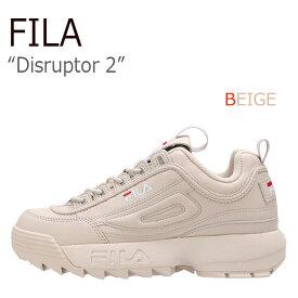 フィラ ディスラプター2 スニーカー FILA レディース Disruptor 2 BEIGE ベージュ ヌードピンク FS1HTA1073X シューズ