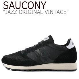 サッカニー ジャズオリジナル スニーカー SAUCONY メンズ レディース JAZZ ORIGINAL VINTAGE ジャズ オリジナル ヴィンテージ BLACK ブラック S70368-9 シューズ