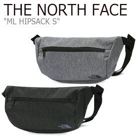 ノースフェイス ボディバッグ THE NORTH FACE メンズ レディース ML HIPSACK S ML ヒップサックS BLACK GRAY ブラック クレー NN2HK03A/B バッグ 【中古】未使用品