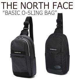 ノースフェイス クロスバッグ THE NORTH FACE メンズ レディース BASIC O-SLING BAG ベーシック O-スリング バッグ BLACK CHARCOAL ブラック チャコール NN2PK05J/K バッグ 【中古】未使用品