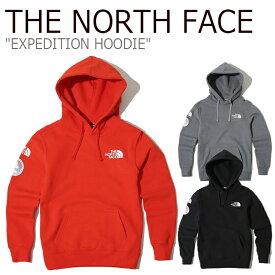 ノースフェイス パーカー THE NORTH FACE メンズ EXPEDITION HOODIE エクスペディション フーディー レッド グレー ブラック NM5PK00A/B/C ウェア 【中古】未使用品