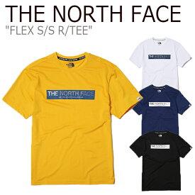 ノースフェイス Tシャツ THE NORTH FACE メンズ レディース FLEX S/S R/TEE フレックス ショートスリーブ ラウンドT WHITE YELLOW BLUE BLACK NT7UK07J/K/L/M ウェア 【中古】未使用品