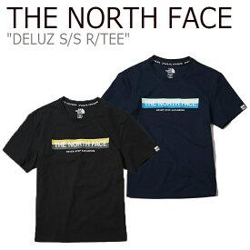 ノースフェイス Tシャツ THE NORTH FACE メンズ レディース DELUZ S/S R/TEE デルズ ショートスリーブ ラウンドT NAVY BLACK ネイビー ブラック NT7UK15J/K ウェア 【中古】未使用品