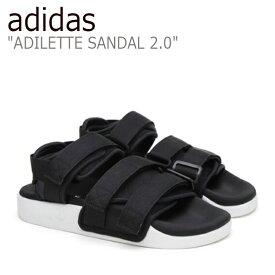 アディダス アディレッタ サンダル adidas メンズ レディース ADILETTE SANDAL 2.0 アディレッタサンダル BLACK ブラック AC8583 シューズ 【中古】未使用品