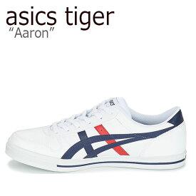 アシックスタイガー スニーカー asics tiger メンズ レディース Aaron アローン WHITE MIDNIGHT ホワイト ミッドナイト 1201A007-101 シューズ