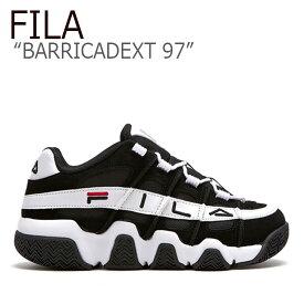 フィラ スニーカー FILA メンズ レディース BARRICADEXT 97 バリケードXT 97 BLACK WHITE ブラック ホワイト FLFL9S1U42 FS1HTB1053X シューズ